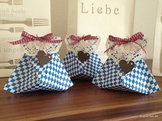 Oktoberfest, Geschenkverpackung, Bayern, Hearts a Flutter, Spitzendeckchen