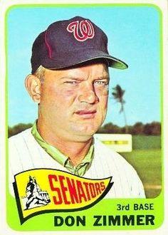 1965 Topps #233 Don Zimmer - Washington Senators (Baseball Cards) EX - Ex. or…