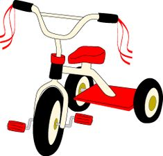 Tricycle clip art , summer toys graphics