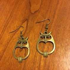 A personal favorite from my Etsy shop https://www.etsy.com/listing/482478309/bronze-angry-bird-owl-earrings-free