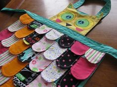 owl apron...I need to make this for Ava!!