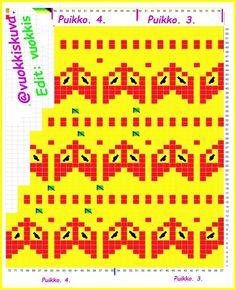 Varren suusta aloitettu malli, puikot 3_ ja 4. Knitting Patterns, Crochet Patterns, Knitted Hats, Knit Crochet, Socks, Diy, Fashion, Moda, Knit Patterns