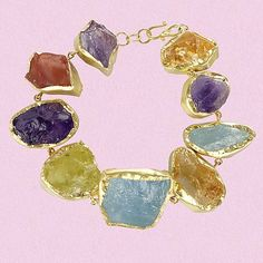 Rough Frame Set Bracelet | Pippa Small Jewellery