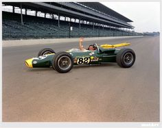 Jim Clark, photographed in his Lotus 38 the day after winning the Indy 500 race in Jim won two world championships and was the first non-American to win the Indy (OK, this is not an car) [Photo: IMS Photo] F1 Lotus, Lotus Car, Indy Car Racing, Indy Cars, Formula 1, Indianapolis Motor Speedway, Indianapolis Indiana, Jochen Rindt, Ford Mustang