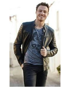 Kerem Bursin, Turkish movie and TV actor Turkish Men, Turkish Actors, Tv Actors, Actors & Actresses, European Street Style, Urban Male, Leather Jacket Outfits, Hommes Sexy, Pretty Boys