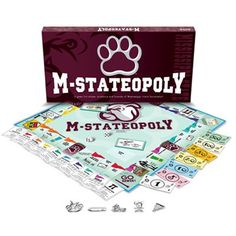 Mississippi State Bulldogs M-STATEOPOLY Board Game