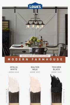 Cozy modern farmhouse colors for any space. Farm House Colors, Mediterranean Homes, Paint Colors For Home, Modern Colors, Modern Farmhouse, Modern Cottage, My Dream Home, Home Projects, Home Remodeling