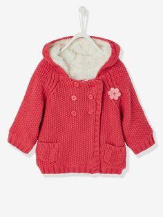Gefütterter Cardigan für Baby Mädchen - HIMBEER+MARINE - 1