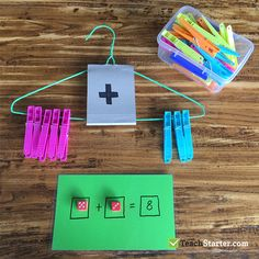 10 Easy, Simple Addition Activities for Kids education activities fun Preschool Learning Activities, Kindergarten Activities, Teaching Math, Preschool Activities, Kids Learning, Math Math, Summer Activities, Simple Addition, Math Addition