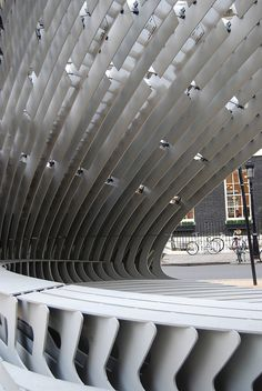 Space AADRL TEN Pavilion. designed by Alan Dempsey and Alvin Huang, Bedford Square, London, Rafael Contreras Morales