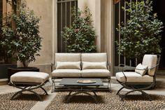#AZUCENA available at #LUMISOL #NONARO | elegant outdoor furniture #Luigi_Caccia_Dominioni | 1962 #Salone_del_Mobile_2014