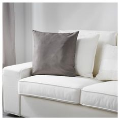 IKEA - ULLKAKTUS, Cushion, gray, Soft, resilient polyester filling holds its shape and gives your body soft support. Cushions Ikea, Couch Pillows, Cushions On Sofa, Colour Story, Ikea Family, Living Room Redo, Cushion Covers, Decorative Pillows, Love Seat
