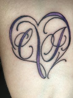 C+J infinity heart tattoo for our Anniversay