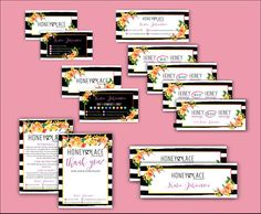 Honey and Lace Kit, Honey Lace Set, Honey & Lace Marketing Set, Business Card, Thank You n Care Instruction, Honey Money, Facebook Cover