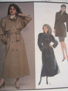 SeeSallySew.com - Ladies Trench Coat Jacket Fashion Vintage Style 1191 Pattern Sz. Large , $15.00 (http://stores.seesallysew.com/ladies-trench-coat-jacket-fashion-vintage-style-1191-pattern-sz-large/)
