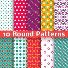 Different Round Shape Vector Seamless Patterns #GraphicRiver 10 Different round shape vector seamless patterns (tiling). Endless texture can be used for printing onto fabric and paper or scrap booking. Diagonal, polka design wallpaper in light bright color. .fontsquirrel /fonts/PT-Sans Created: 5November13 GraphicsFilesIncluded: JPGImage #VectorEPS Layered: No MinimumAdobeCSVersion: CS Tags: abstract #art #background #blue #card #circle #color #colorful #decor #design #dot #fabric #fashion…
