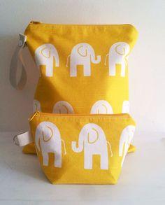 Wet Bag Elephant Set by LilTotWonder on Etsy, $30.00
