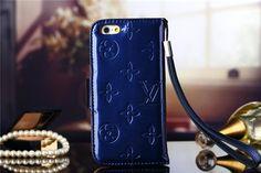 LV Lackleder Tasche mit Diamanten vierziertem Logo für iPhone 6(4.7) - spitzekarte.com