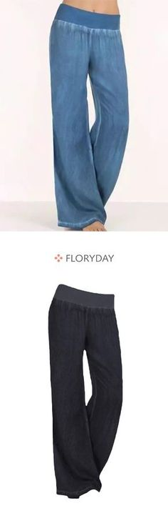 Shop Floryday for affordable Pants & Leggings. Floryday offers latest ladies' Pants & Leggings collections to fit every occasion. Mom Outfits, Casual Outfits, Loose Jeans, Pants For Women, Clothes For Women, Old Jeans, Fashion Pants, Women's Fashion, Work Wardrobe