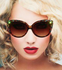 b08d4158ef1ba Womens Sunglasses, Sunglasses Cateye, Bling Eyewear, Vintage Cat Style.  Oculos De SolÓculos ...