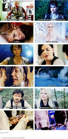 Lost and OUAT parallels. This is interesting, they must've had similar casting directors or something.
