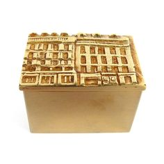 Rue Saint-Honoré gilded bronze box by Line Vautrin