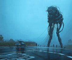 Simon Stålenhag's Incredible New Paintings Show an Alien Invasion That has…