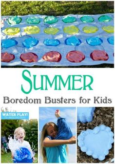 Summer Boredom Busters for Kids! DIY Crafts, Activities, and FUN all Summer long!