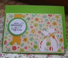 Glückwunschkarten - Karte zum Muttertag mit Katzenmotiv - ein Designerstück von Wollzottel bei DaWanda