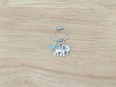 Elephant Captive Bead Hoop Cartilage Earring by LostAtSeaJewelry