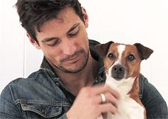 When David Gandy played with these puppies and you actually felt a bit jealous. | 27 Times Hot Guys And Dogs Were A Match Made In Heaven