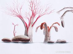 Creative Advertising, Graphic Design Inspiration, Design Art, Creepy, Concept Art, Sculptures, Fantasy, Texture, Animation
