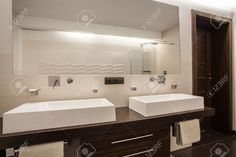 modern travertine bathroom - Google Search