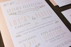 Vintage Modern Wedding Invitation Template -Printable DIY Wedding Invitation. (1007)