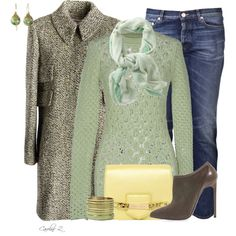 """Mint Scarf"" by carolinez1 on Polyvore"