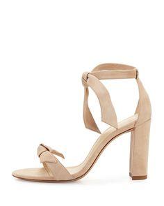 ALEXANDRE BIRMAN Clarita Suede Block-Heel Sandal. #alexandrebirman #shoes #sandals