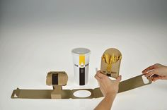 Togo transforms a single sheet of paperboard into a hyper-efficient purse for your meal. Designed by Seul Bi Kim.