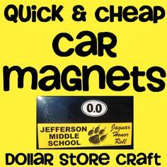 Diana Rambles: Bumper Sticker turned Car Magnet