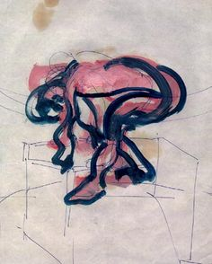 Francis Bacon - bending figure n 2