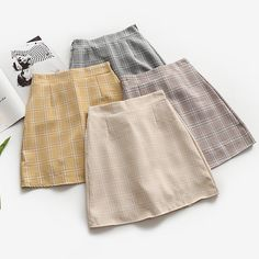 Leisure College Wind High Waist Skirt Women's Skirts Casual Ladies Kawaii Ulzzang Female Korean Vintage Clothing For Women - - Leisure College Wind High Waist Skirt Women's Skirts Casual Ladies Kaw – geekbuyig Source by dresslilyy Casual Skirts, Plaid Skirts, Short Skirts, Casual Outfits, Cute Outfits, Mini Skirts, Women's Skirts, Jean Skirts, Modest Outfits