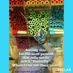 Phlebotomy butterfly humor