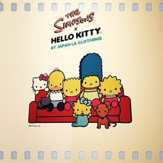 OMG I would watch this all day. The Simpsons x Hello Kitty