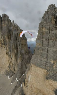 Paragliding at  Red Bull X-Alps.
