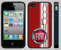 Apple iPhone 4/4s Case FIAT 500 STYLE Red Custom by Studio867, $17.00