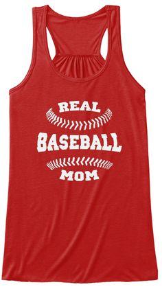 Baseball Mom Shirts 168 Red T-Shirt Front