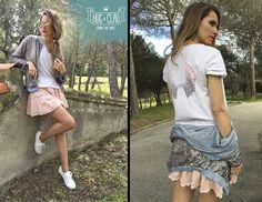 La vida no es gris, ¡es del color que tú quieras! Comenzamos semana con esta imagen que ha compartido hoy la actriz Vanesa Romero en su blog. ¿Te suena su conjunto? ¡¡Sí, es 'made in Hug & Clau'!! Una combinación de chaqueta, falda y camiseta perfecta, ¿no crees? ¡Feliz lunes! Equipo #HugandClau