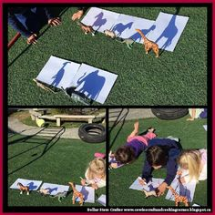 Dollar Store Crafter: Use Your Child's Toys To Make Shadow Drawings