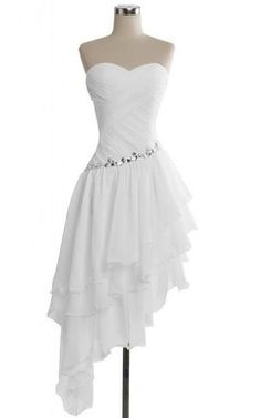 Sweetheart Midi-length Asymmetrical Layered Chiffon Dress - - Source by Dresses Elegant, Cute Prom Dresses, Dresses For Teens, Simple Dresses, Homecoming Dresses, Pretty Dresses, Sexy Dresses, Beautiful Dresses, Casual Dresses
