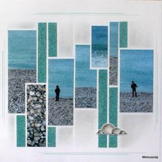 even though it's a scrapbook layout, the structure would make a cool quilt. Also love the colours :-)