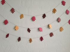 Fall Oak Leaf Garland/Banner Party Garland by eyepoppingcreations